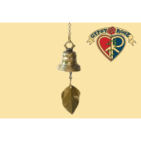 Truth Rings Clear Brass Bell With Bodhi Leaf
