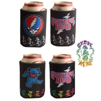 Grateful Dead Dancing Bear With Steal Your Face Twin Pack Can Huggie