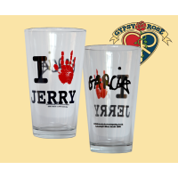 Grateful Dead I Love Jerry Garcia Fingers Logo Pint Glass