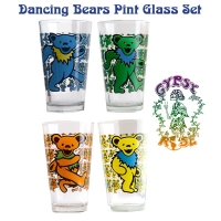 Grateful Dead Dancing Bear 4-Pack Pint Glass
