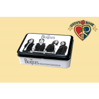 The Beatles Black & White Two Deck Playing Cards w/Collectors Tin