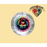 Woodstock Peace Love Music Ashtray