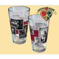 Jerry Garcia Black And White Photo Pint Glass