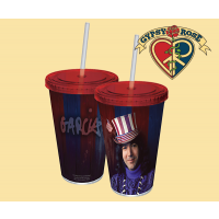 Jerry Garcia Captain Trips Recyclable Acrylic Cup with Straw