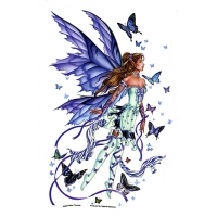 LAVENDER SERENADE FAIRY WINDOW STICKER