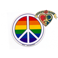 PRIDE PEACE SIGN WITH RAINBOW STICKER
