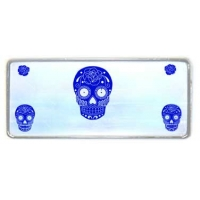 STICKER SET - WHITE SUGAR SKULL MULTI PIECE STICKER SET