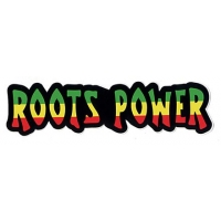ROOTS POWER RASTA COLORS SMALL BUMPER STICKER