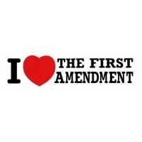 I LOVE THE FIRST AMENDMENT SMALL BUMPER STICKER