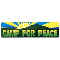 CAMP FOR PEACE SMALL BUMPER STICKER