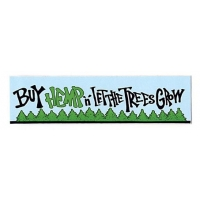 BUY HEMP N LET THE TREES GROW SMALL BUMPER STICKER