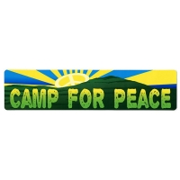 CAMP FOR PEACE BUMPER STICKER