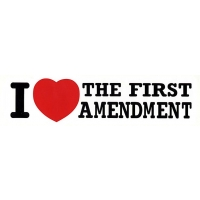 I LOVE THE FIRST AMENDMENT BUMPER STICKER