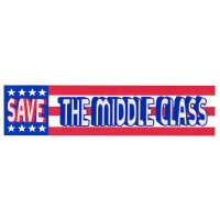 SAVE THE MIDDLE CLASS BUMPER STICKER