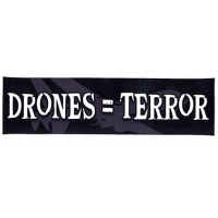 DRONES=TERROR STICKER SMALL BUMPER STICKER