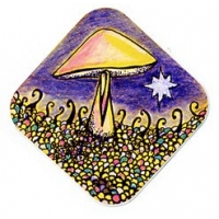 Bright Star Mushroom Sticker