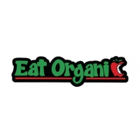 EAT ORGANIC APPLE BITE BUMPER STICKER