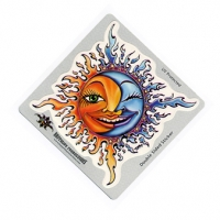SMILIN' MOON & SUN STICKER