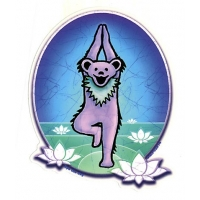 Grateful Dead Dancing Bear Yoga W/Lotus Sticker