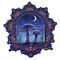 Psych Mushrooms & Moon Sticker