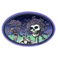 GRATEFUL DEAD BATIK SKULL & ROSES BERTHA WINDOW STICKER
