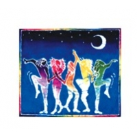 DANCING IN NIGHT WINDOW STICKER
