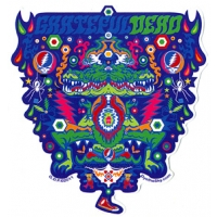 GRATEFUL DEAD ALLIGATOR SYMMETRY STICKER