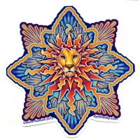 LION SUN WINDOW STICKER