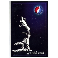 GRATEFUL DEAD WOLF STEAL YOUR FACE MOON STICKER