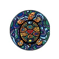 MOSAIC TURTLE WINDOW STICKER