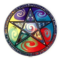 PENTAGRAM WICCA WINDOW STICKER