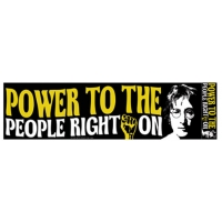 POWER TO THE PEOPLE RIGHT ON BUMPER STICKER