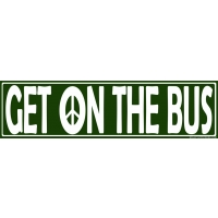 GET ON THE BUS BUMPER STICKER