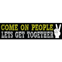 COME ON PEOPLE... BUMPER STICKER