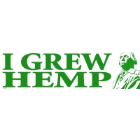 I GREW HEMP GEORGE WASHINGTON BUMPER STICKER