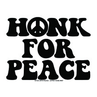 HONK FOR PEACE BUMPER STICKER