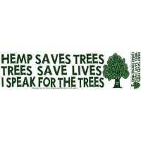 HEMP SAVES TREES, TREES SAVE LIVES BUMPER STICKER