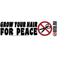 GROW YOUR HAIR FOR PEACE BUMPER STICKER