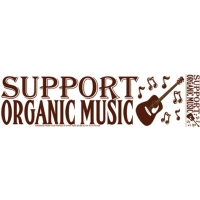 SUPPORT ORGANIC MUSIC BUMPER STICKER