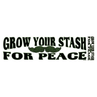 GROW YOUR STASH FOR PEACES BUMPER STICKER