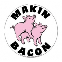 MAKIN BACON PIGS STICKER