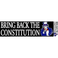 Bring Back The Constitution Sticker