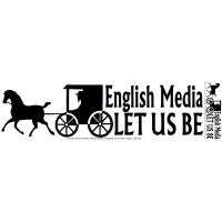 English Media Let Us Be Sticker