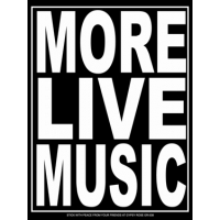 More Live Music Sticker