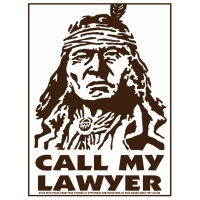 CALL MY LAWYER STICKER