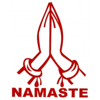 5-inch Namaste Prayer Hands Cutout Sticker