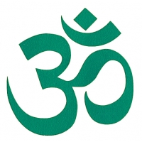 3-inch Om Of Compassion Cutout Sticker