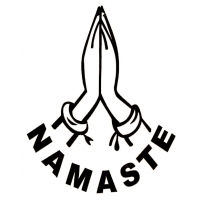 4-inch Namaste Prayer Hands Cutout Sticker