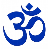 5-inch Om Of Compassion Cutout Sticker