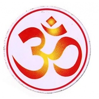 "3.25"" Diameter 2-Tone Om Sticker"
